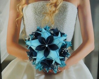 ON SALE NOW!!!  Icicle  -  Origami Bride Bouquet