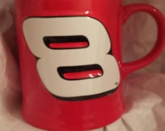 Dale Earnhardt Jr coffee mug. Number 8. 3d coffee mug.