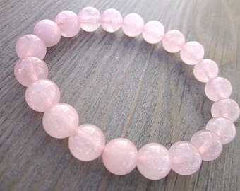 Fines stones rose quartz bracelet - 8mm