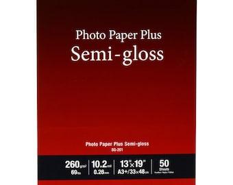 "Canon 1686B064 SG-201 Photo Paper Plus Semi-Gloss (13 x 19"", 50 Sheets)"