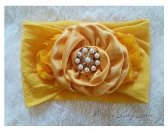 Dark Yellow Flower Headband