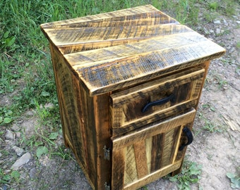 Rustic night stand/end table
