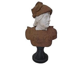 Italian Neoclassical Multi-Tone Marble Bust