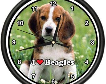 Beagle Wall Clock Dog Pet Dogs Puppy Breeder Gift