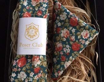 Tie and Pocket Square 'Hunter Green' Duo Set by Poser Club