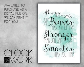 Wall Art, Prints, Home Decor, Inspirational Quotes, Nursery Prints, Printed or Digital File Available, Always Remember