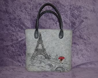 Felted handbag, women handbag