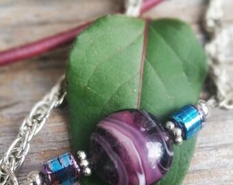 purple and blue bead bracelet