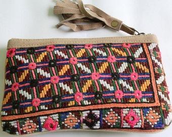 Vintage Purse, Recycled Banjara Cloth Hobo Bag, Handmade Purse, Boho Bag, Shell Purse, Money Bag, Wallet, Purse, Coin Purse, Evening Purse