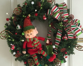 Christmas Elf Wreath