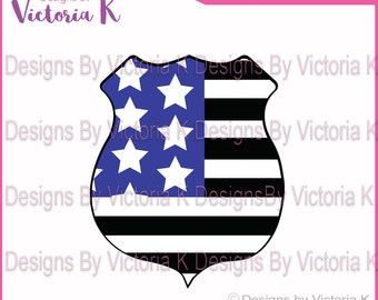 Police, Blue Line, Blue Lives Matter, Police Badge SVG, PNG, EPS Files, Cricut Design Space, Vinyl cut Files