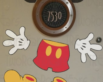 DCL Stateroom Door Porthole Ears - Mickey Mouse