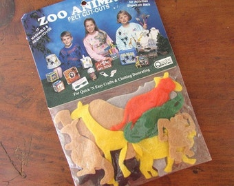 Zoo Animal Felt Cut Outs Vintage Craft Felt Animals Celebrations of America