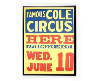 Vintage Original Circus Poster