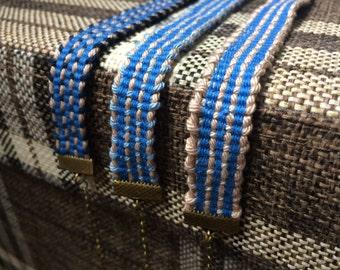 Hand Woven Bracelet - Denim