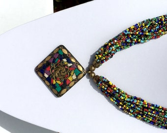 Unique Kundan Necklace Related Items Etsy