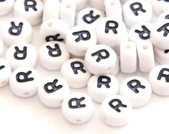 "50 St. alphabet beads ""R"""