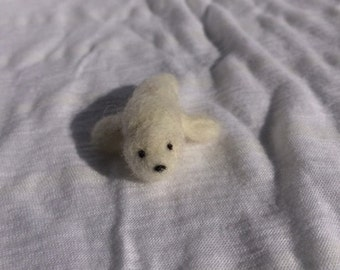 Felted Harp Seal Pup