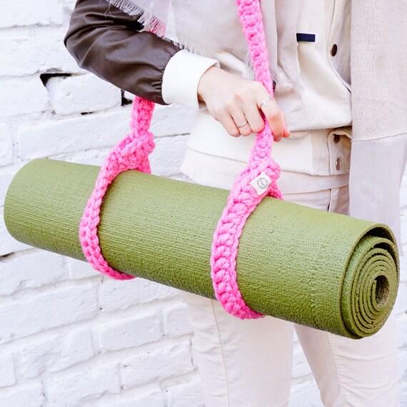 Knitted Yoga Mat Sling & Strap / Hot Pink Foyo By FoyoFoyo
