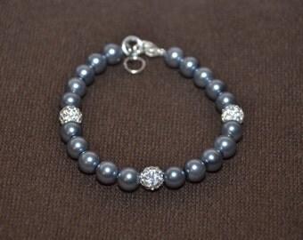 Bridesmaids Bracelet Charcoal