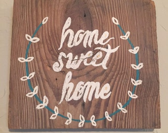 "9.5"" by 8.5"" ""Home Sweet Home"" decoration"