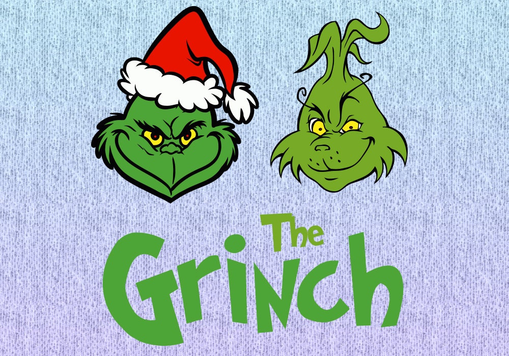 Download 3 Designs The Grinch SVG File Silhouette Cricut by vectorsvgs