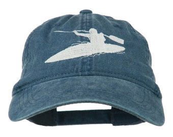 Sports Kayak Embroidered Washed Dyed Cap