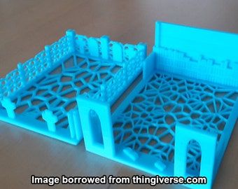 Ornate Graveyard and Library Themed Deckbox For Magic: The Gathering [3D Printed]