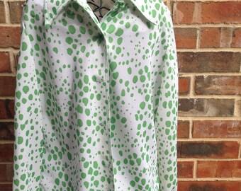 Vintage Green Polka Dot Blouse