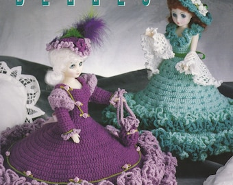 Bed Doll Belles, Annie's Attic Crochet Doll Clothes Pattern Booklet 87B98 Bustles, Shawls, Hats