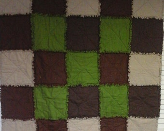 Lap Sized Raggedy Quilt