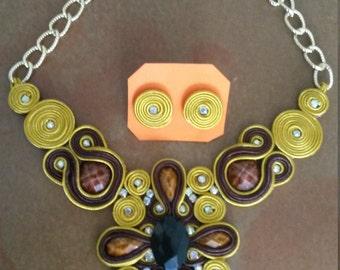 Set necklace Soutache design My Kmi