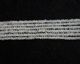 Bundle of 5 strands of Rainbow Moonstone Faceted Rondelle Beads, Rainbow Moonstne Rondelle Beads, Rainbow Moonstone Beads