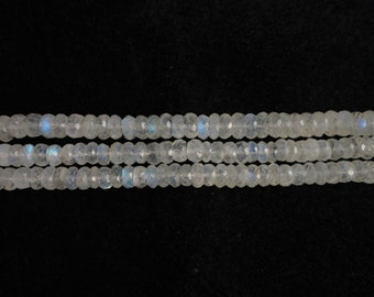 Rainbow Moonstone Faceted  Rondelle