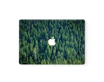 MacBook Top Front Lid Cover MacBook Decal MacBook Skin MacBook Sticker Air/Pro/Retina Touch Bar 11 12 13 15 17 inch Vinyl | Forest Trees