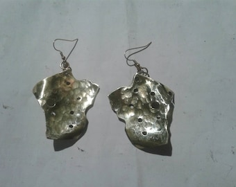Brass handmade nickel free earrings