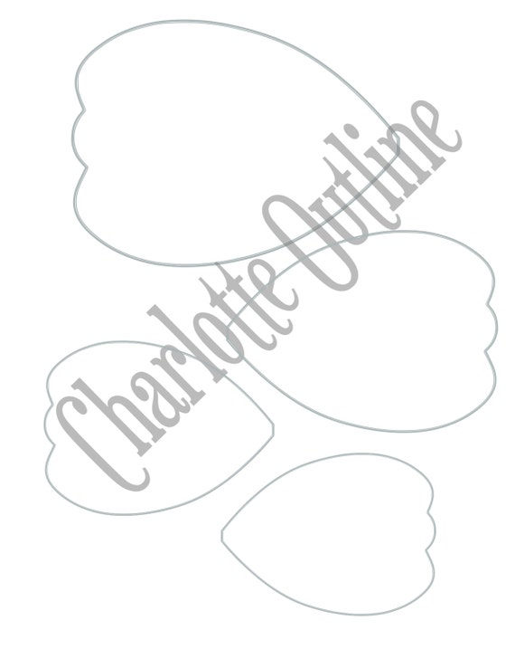Diy giant paper flower printable templates flower template for Giant paper flower template free