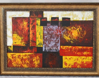 For Sale Abstract Oil Painting with Frame(P13)