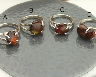 Fire Agate Ring Fire Agate Jewelry Fire Agate in Sterling Silver