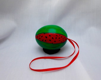 Watermelon Egg Ornament