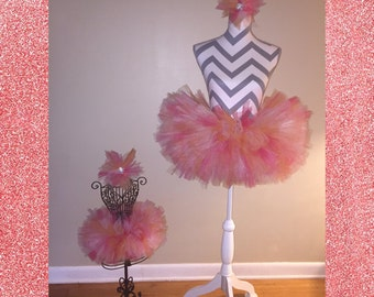 Mother and Daughter Tutu's with Matching headband Set