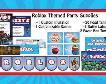 Roblox Themed Party Supplies
