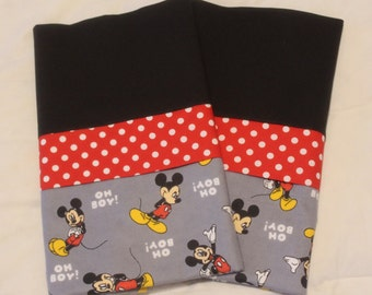 Pillowcase, Mickey Mouse Pillowcase standard/full SET, Mickey Mouse Bedding