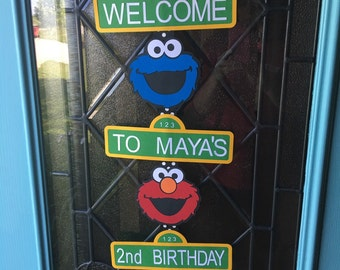 Sesame Street Inspired Welcome Sign