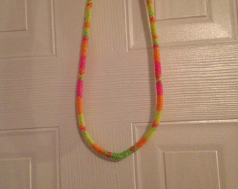 Neon Seed bead necklace