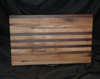 Black Walnut and Hickory Cutting board