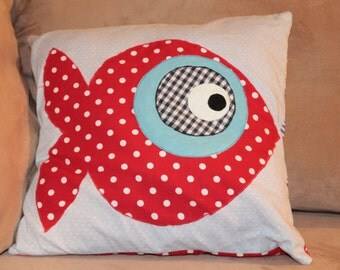 Pillow Sham with Fish