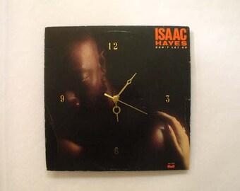 Isaac Hayes Record Jacket Clock