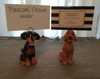 Table Number or Placecard Holder, Dog Themed