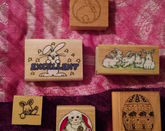 Set of Bunny Stamps